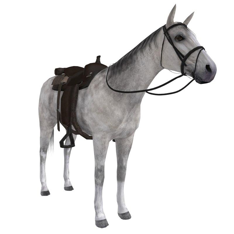 wild west horse saddle 3d max