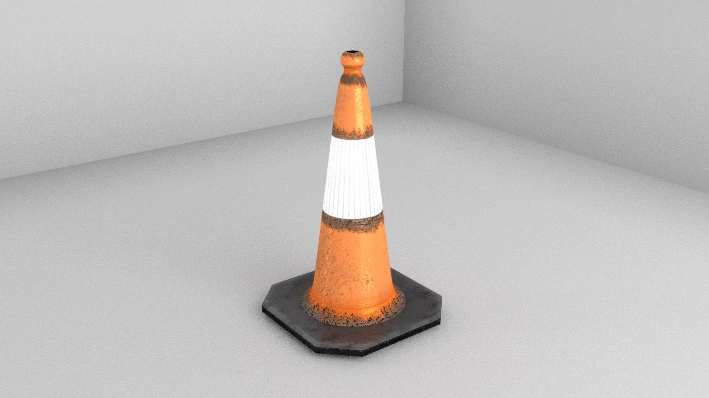 traffic cone 3d obj