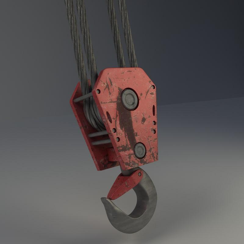 3d crane hook