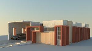 3d model of house modeled