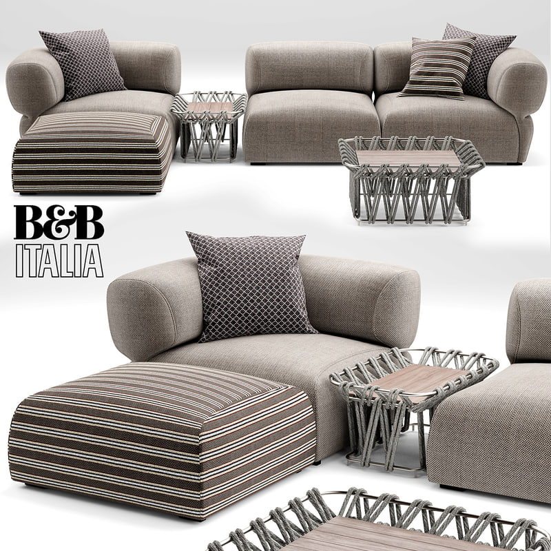 3d model of butterfly bt007 sofa