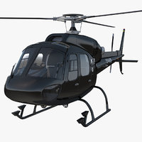 3d model helicopter eurocopter as355 rigged