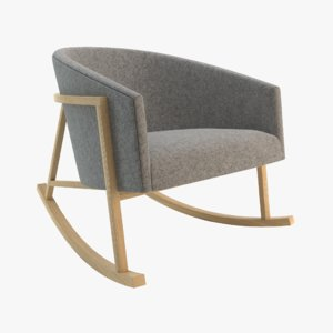 3d model of ryder rocking chair