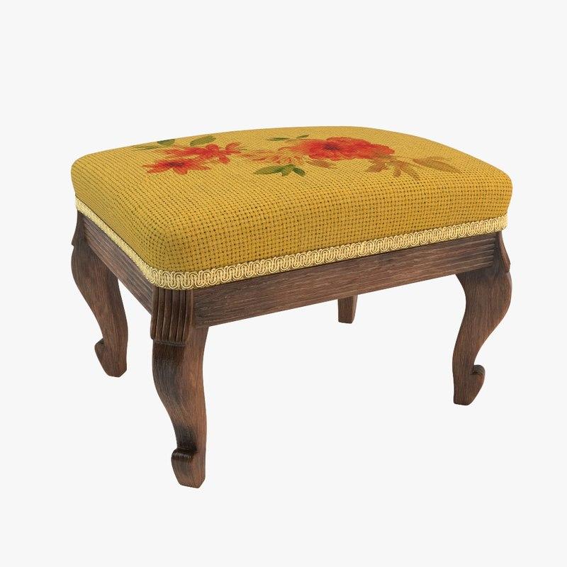 antique chair vintage 3d max