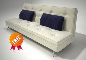 free sofa modelled ligne 3d model