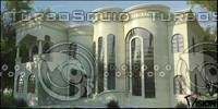 3ds max villa