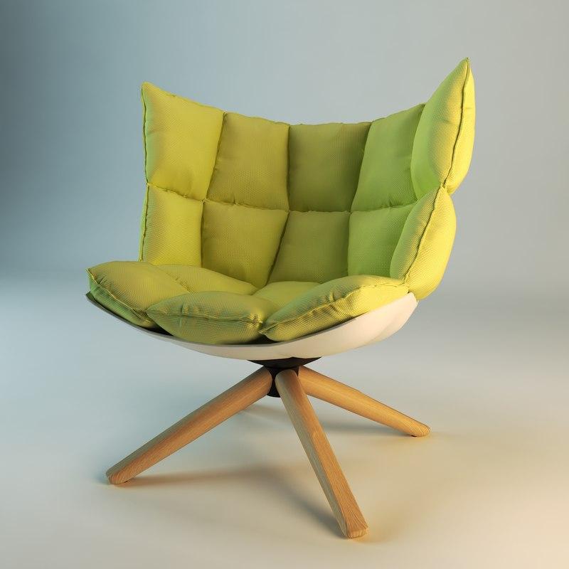 Realistic Husk Chair Max