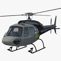 helicopter eurocopter 355 rigged 3d model