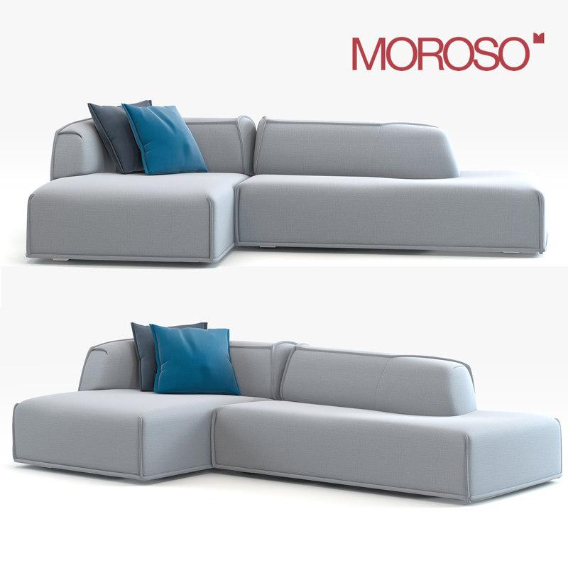 modern moroso sofa 3d model