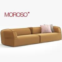 modern sofa moroso 3d model