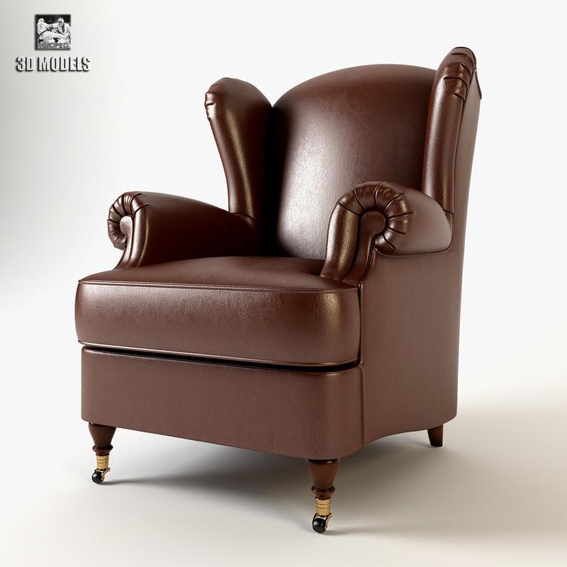 armchair cava 3d model