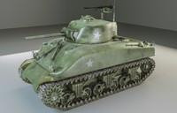 3d sherman tank model