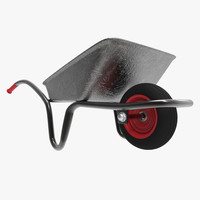 3d wheelbarrow contains model