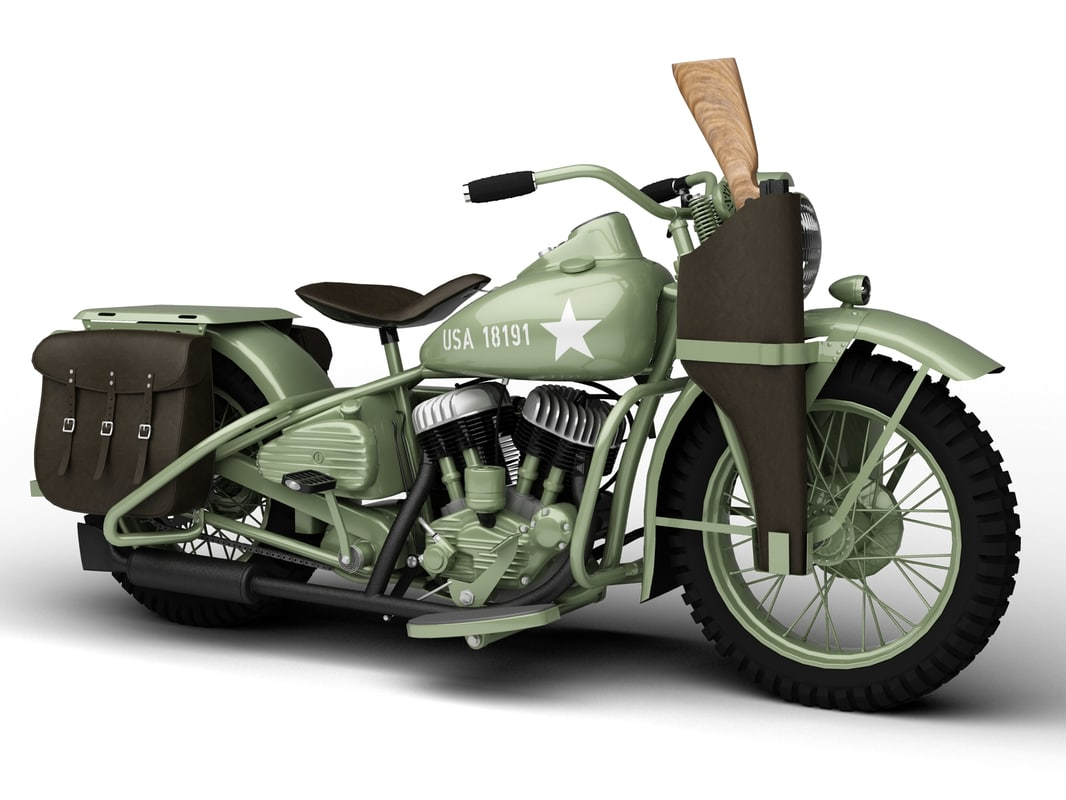 harley davidson wla 3d obj. Black Bedroom Furniture Sets. Home Design Ideas