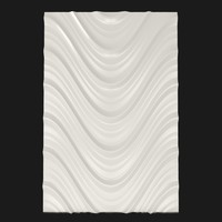 panel decorative 3d wave mdf