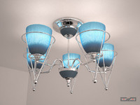 Chandelier chrome with sconce
