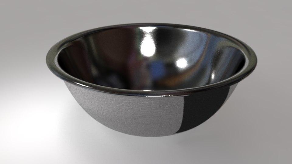 metal mixing bowl obj