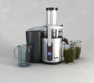 3d juicer breville bje510xl juice model
