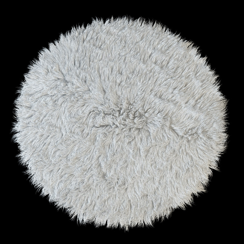 carpet flokati 3d model