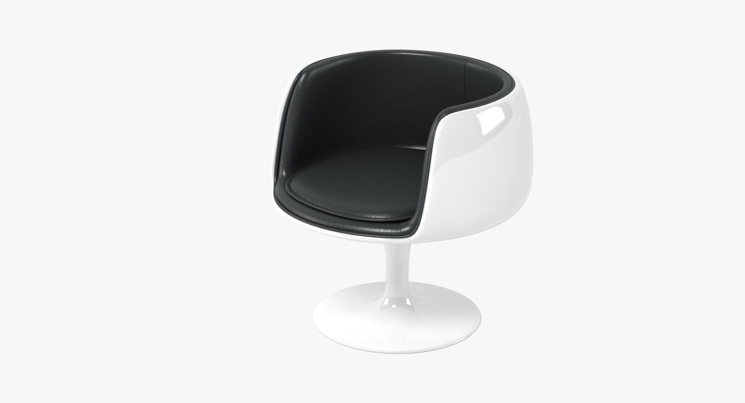 3d eero aarnio cognac chair
