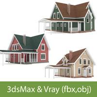 cottages 3d model