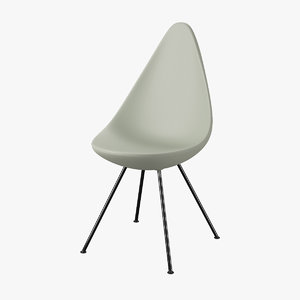 3d chair arne jacobsen model