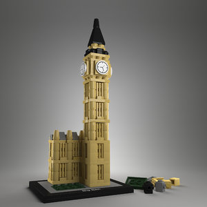 lego bigben 3d model