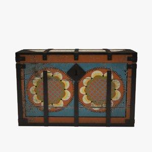folk art painted chest ma