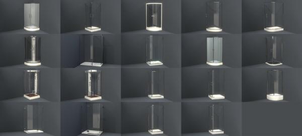 corner shower 3d fbx