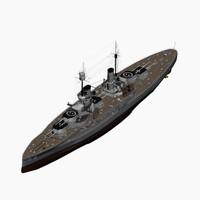 dreadnought battleship koenig class 3d max