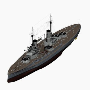 3d dreadnought battleship kaiser class model