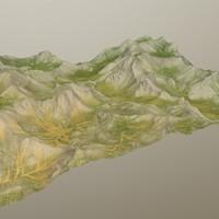 obj hills terrain