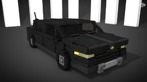 minecraft car 3d model
