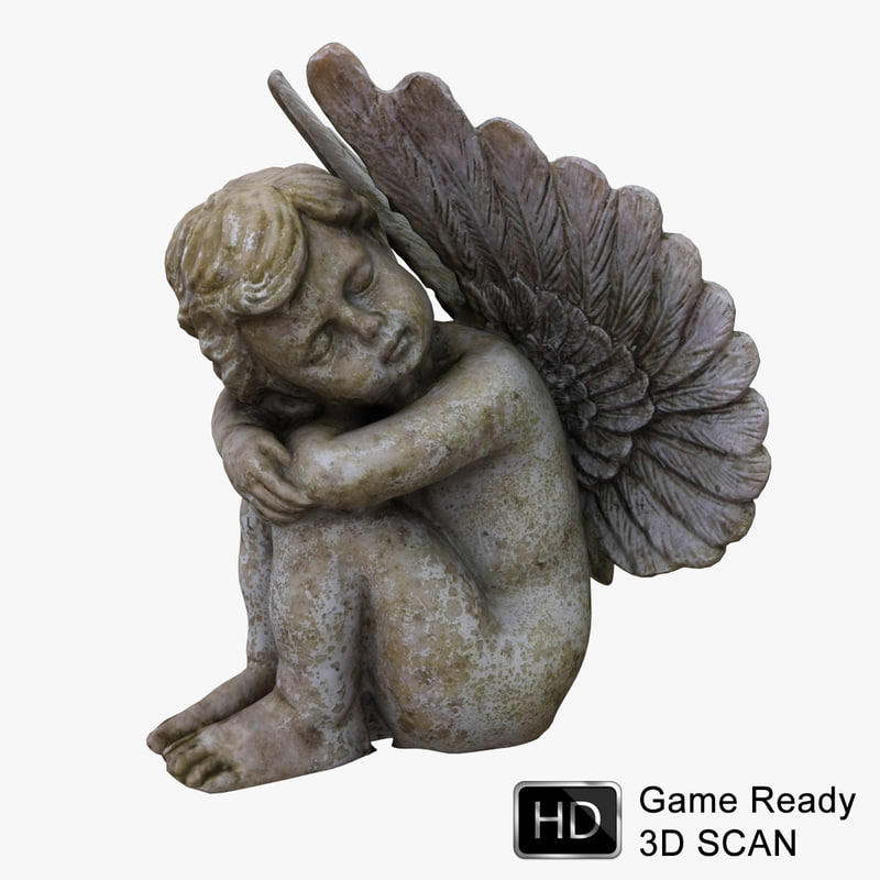 3d model cherub angel statue
