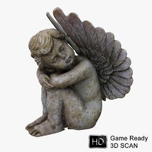 3d model cherub angel statue