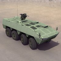3d model amv wheeled