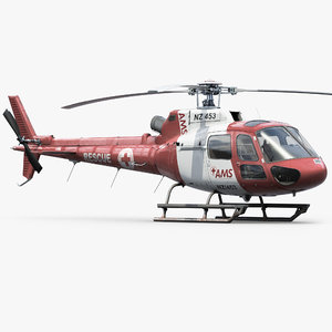 eurocopter h125 rescue helicopter 3d obj