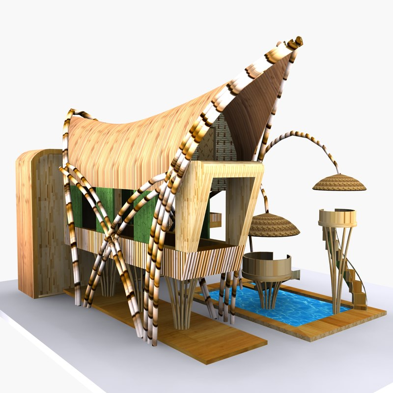 3d bamboo house