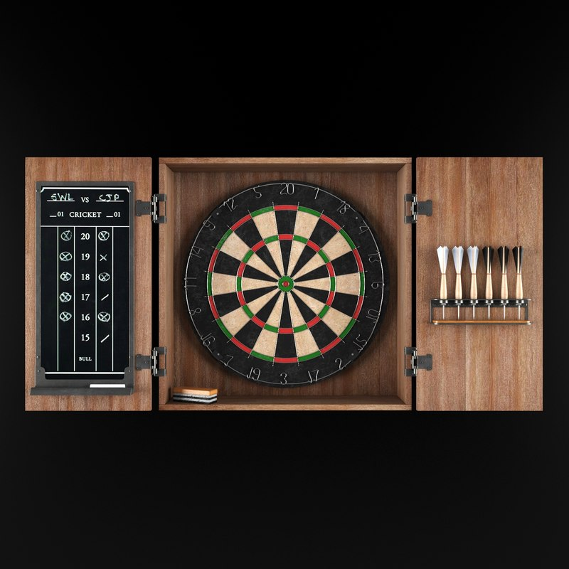 3d dartboard darts