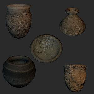 reconstruction set vases 5 3d model