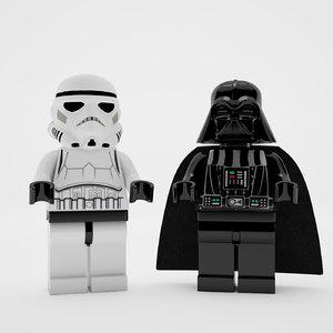 star wars lego 3d max