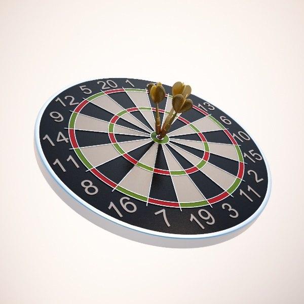 3d dart board model