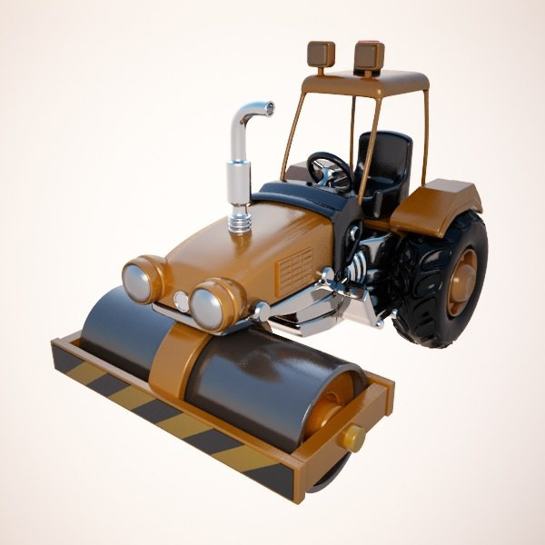 3ds max road roller