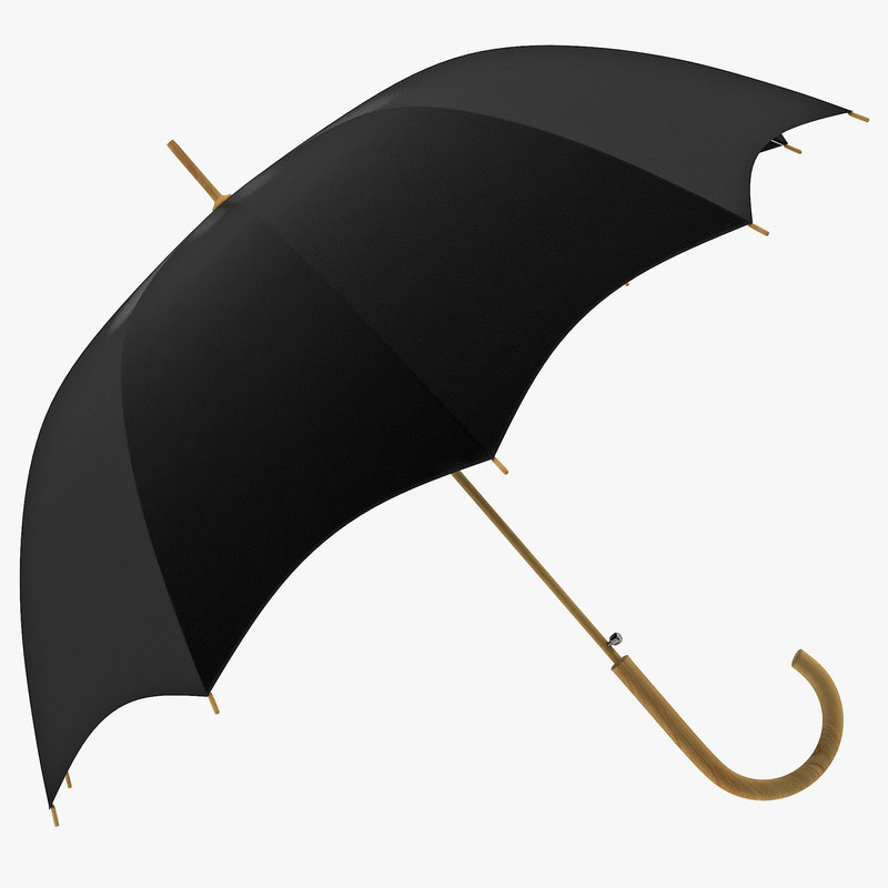 open umbrella 3d model