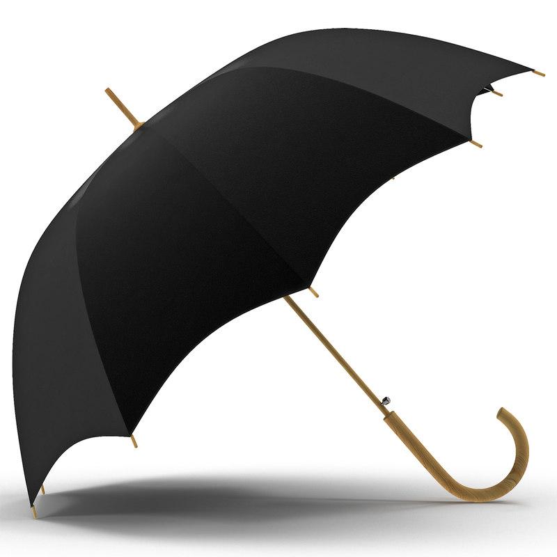open umbrella 3d model