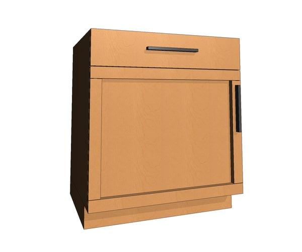 parametric base cabinet shaker 3d rfa