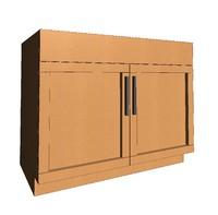 Sink Cabinet- Shaker Door- Parametric
