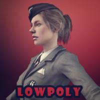 nazi girl 3d fbx