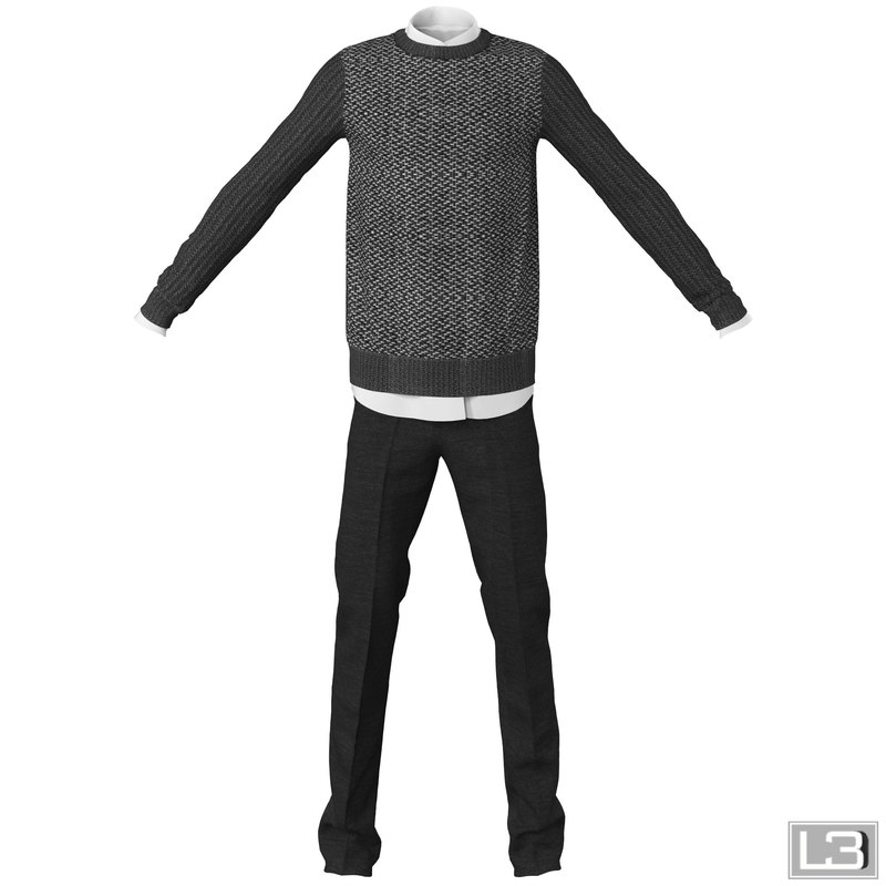 man clothes 3d max