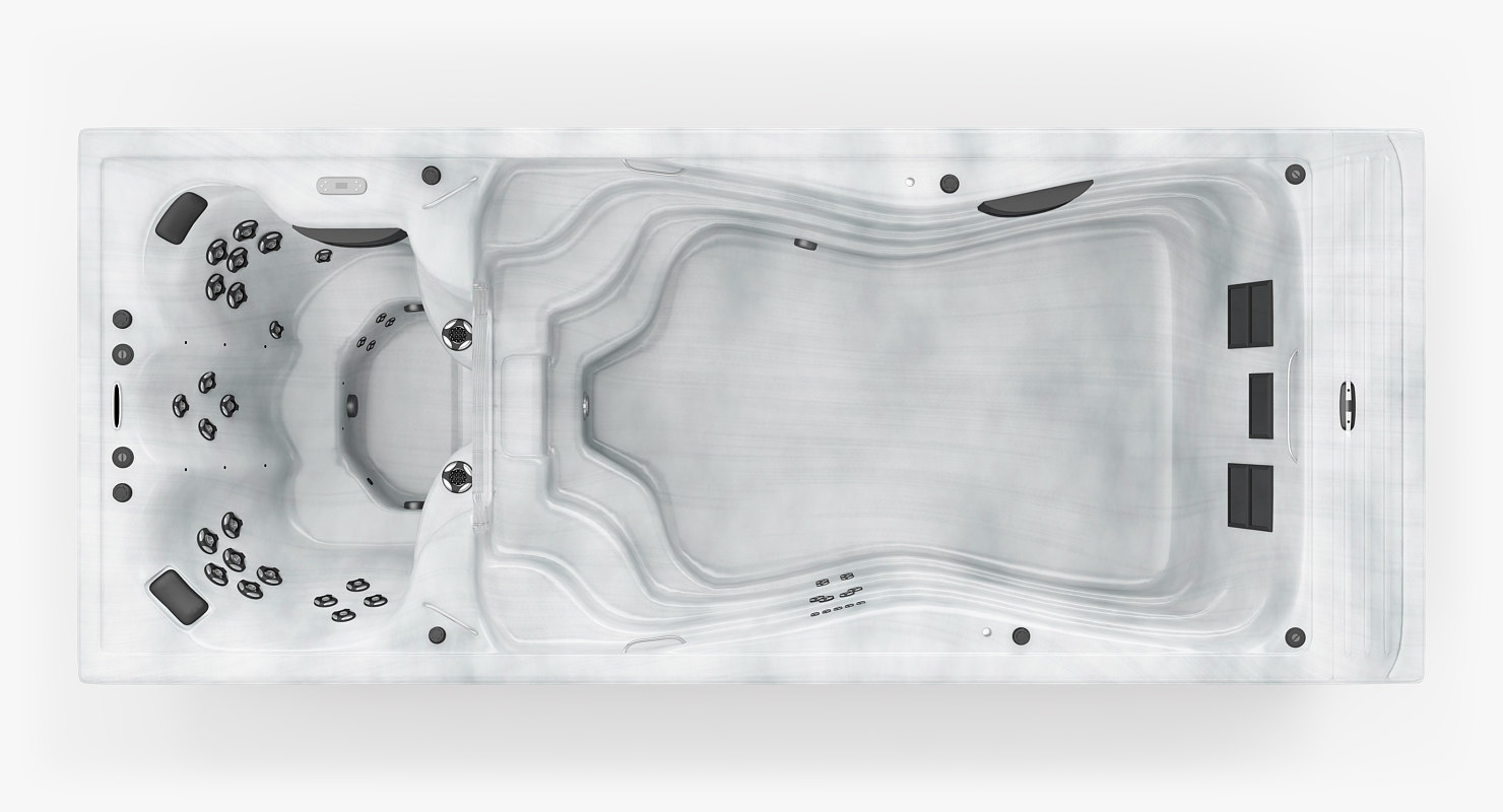pool jacuzzi bath 3d model